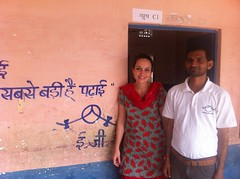 With one of our Block Officers in the district of Pali, Rajasthan