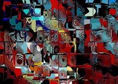 Foto-pintura - Abstração com cubos / Photo-Painting - Abstraction with cubes (Valcir Siqueira) Tags: cubes cubos
