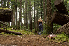 Walking Through The Forest (Brad Darling Photography) Tags: trees canada nature girl beautiful forest canon photography photo pretty dress princess picture vancouverisland blonde courtenay comox comoxvalley