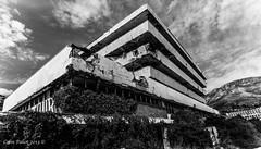 The Grand Dereliction (cpallot1) Tags: old abandoned strange graffiti hotel amazing war bosnia serbia croatia resort derelict dubrovnik bombed yugoslavia dalmatia collapsing kupari
