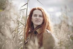 Portrait of a woman among the reeds in the dunes on the shore of the Baltic Sea. (DeusXFlorida (11,059,330 views) - thanks guys!) Tags: autumn red portrait woman girl beauty nikon longhair latvia redheaded riga easterneurope 105mm saulkrasti nikon105mmf25 baltik d3x baltakapa nikond3x deusxflorida nikond3xhasselbladcarlzeissplanart80mmf28