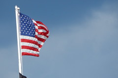Flag (Photography Designs by Janelle) Tags: clouds flags american