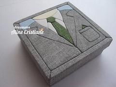 Caixa Terno (Line Artesanatos) Tags: caixa caixademadeira caixasforradas patchembutido patchworkembutido
