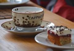 ...in der Possendorfer Windmühle... (superscheeli) Tags: tasse coffee cake essen kaffee hunger pause cappuccino rast cappuchino teller kuchen vesper schmecken süs