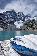 Moraine Lake - Canada (Jackpicks) Tags: winter lake snow canada mountains bravo canoe alberta banffnationalpark morainelake mygearandme wwwflickrcomgroupsbanff
