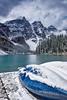Moraine Lake - Canada (Jackpicks) Tags: winter lake snow canada mountains bravo canoe alberta banffnationalpark morainelake mygearandme wwwflickrcomgroupsbanff
