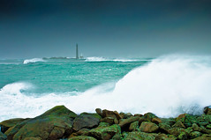 Rough sea (aremac) Tags: ocean sea lighthouse storm france water wave plouguerneau