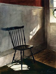 "I want to go out like Matisse..."" (Matthews Gallery) Tags: b newmexico santafe southwest art watercolor painting chair artist paintings lewis realist painter earl watercolors painters southwestern realism canyonroad artworld watercolorist watercolorists artnews matthewsgallery realists earlblewis"