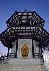 Peace Pagoda (DncnH) Tags: park london temple shrine buddha buddhist 1985 battersea peacepagoda batterseapark reverendgyoronagase