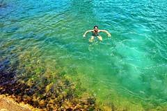 Deep blue (hemedici) Tags: sea beach chilling reef fonte brotha guarapari afterjump