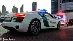 Dubai Police R8 & Brabus G63 Combo! (Yasir_Bhojani) Tags: 6 ford chevrolet one mercedes benz al dubai nissan martin g c ss uae police continental ferrari 63 camaro m sl mc civil mclaren bmw dodge gran 12 mustang gt audi bugatti corve