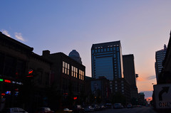 Downtown Louisville (theduckmanz) Tags: city sunset night kentucky louisville downtownlouisville