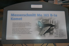 Me-163_B-1a_Komet_Sign2 (AJ's Airplanes) Tags: museum smithsonian space air center national f steven hazy nationalairandspacemuseum udvarhazy udvar stevenfudvarhazycenter komet udvarhazycenter me163 me163b1a