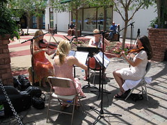 String Quartet. The District, Henderson, Nevada (Jeff in Henderson) Tags: music musicians women district nevada violin cello string classical henderson viola quartet