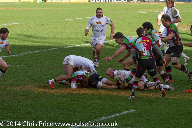 Quins 18 Newcastle 14 Aviva Prem 15th Feb 14
