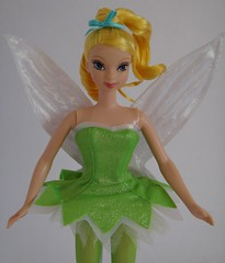 Mattel Tinker Bell Doll (2004) - First Look - Deboxed - Standing - Midrange Front View (drj1828) Tags: 2004 standing us doll wand tinkerbell pixie dust purchase mattel posable 11inch deboxed
