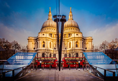 London Reflected (Jamie Frith) Tags: reflection london nikon cathedral stpauls d800 1424 onenewchange