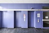 Elevators, 3rd floor (GregoireC - www.gregoirec.com) Tags: building berlin architecture canon germany office violet plattenbau dri tempelhof gesundheitsamt 5dmarkii tse17mmf4l