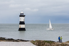Obeying Orders (Genuine dabber) Tags: lighthouse wales boat europe unitedkingdom yacht anglesey penmon