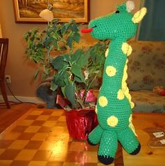 Jean Walker (The Crochet Crowd®) Tags: mikey giraffe redheart crochettoy mysteryadventure freeamigurumipattern mysterycrochetalong thecrochetcrowd michaelsellick freeonlinetutorial thecrochetcrowdcrochetalong freegiraffecrochetpattern freecrochetvideo girafts1