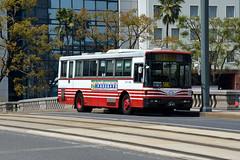 Hiroshima Bus 858 34-41 (Howard_Pulling) Tags: bus buses hiroshima april nippon 2014 howardpulling
