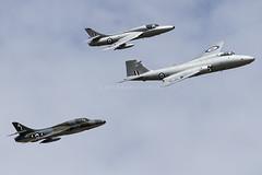 English Electirc Canberra PR9 XH134 G-OMHD & Hawker Hunter T7s WV372 G-BXFI & XL577 G-XMHD (zymurgy661) Tags: canon cornwall display aircraft aviation navy royal airshow 7d canberra hunter midair hawker airbase squadron 2014 t7 englishelectric pr9 rnas culdrose xl577 xh134 gbxfi wv372 gomhd gxmhd