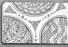 Zen8 (dieverdog) Tags: blackandwhite sketch journal doodle lineart zentangle
