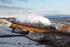 46233 Birkett Common 31st January 2015 (John Eyres) Tags: winter mountain express sutherland duchess birkett cumbrian 46233