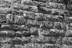 the wall (cyberjani) Tags: bw ancient theater greece sanctuary dodona