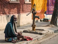 Beggar, Shobhabazar (Mike Prince) Tags: india man unknown kolkata beggars westbengal waterpumps scienceandtechnology shobhabazar