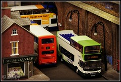 Shades of Stagecoach (Zippy's Revenge) Tags: bus toy model alexander dennis diorama stagecoach trident diecast opentop oogauge 17016 18030 alx400 britbus creativemaster cmnl northcord s816bwc 176thscale