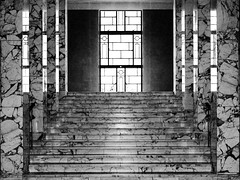 staircase (TeRo.A) Tags: blackandwhite bw reflection window architecture helsinki staircase artdeco marble eduskuntatalo arkkitehtuuri heijastus ikkuna mustavalkoinen klassismi marmori portaikko parliamentoffinland