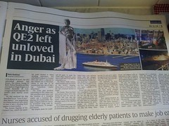 QE2 in Dubai 2014 (Louis De Sousa) Tags: qe2 southampton cunard 1969 2008 dubai port rashid dry docks cosco oceanic group vila legend dock nakheel dp world queenelizabeth2 portrashid dpworld