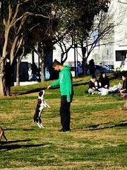 (Uncle Fe) Tags: dog pet sun nature grass animals greece thessaloniki trick picnik