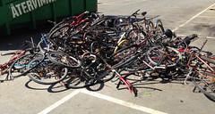 recycling (rotabaga) Tags: bike bicycle göteborg gothenburg chalmers iphone cyklar