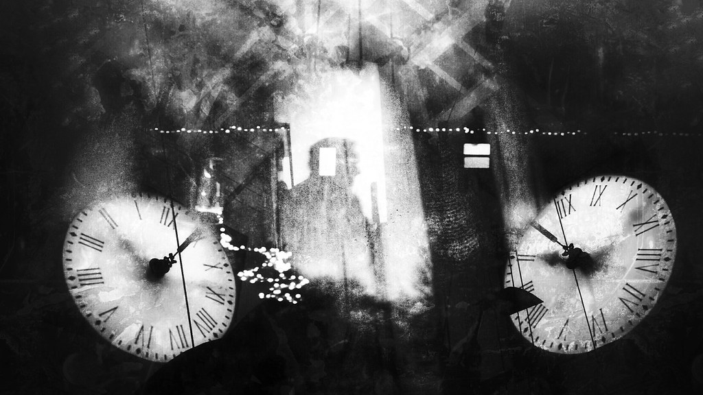 3f3083695 IMG_20160504_150919_1 (Skorr1) Tags: multipleexposure doubleexposure clock  christmaslights pensacola florida