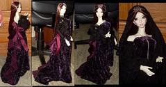 new velvet dress (chalyss) Tags: homemade hybrid euna elfdoll xingmeng mirodoll magicalangel