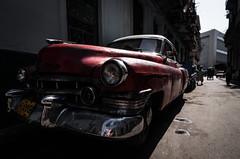 Havana 11 (arsamie) Tags: street old light red sun car contrast dark bokeh havana cuba rusty american clair obscur