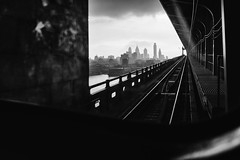 51st Shade of Gray (c. Melon Images) Tags: street city travel urban philadelphia window architecture train cityscape fuji philly 23mm x100s dirtywindowseries