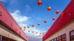 Hanging Lanterns (NonFace) Tags: sky color lines clouds losangeles colorful sony rx100 rx100m3 rx100iii rx100mk3 rxr100m3