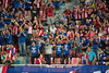 BANGKOK-THAILAND-5JUNE,2016:Unidentified fans of Thailand supporters during match between match King's cup between Thailand and Jordan at rajamangkala Stadium in Thailand on 5 june 2016 (leykladay) Tags: world portrait people man motion sport club ball thailand person moving football goal movement fighter play action kick stadium fifa soccer group competition player line thai editorial match fans league cheering champions supporters active kingcup tpl