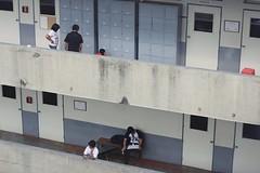 (iwidesiderio) Tags: school summer people building college students floors student rooms doors philippines hallway locker letran