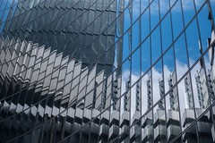 Accordion (alxfink) Tags: sky abstract reflection building london glass architecture facade lumix accordion staircase storefront lloyds