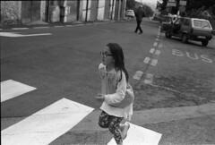 on the run (giacomo tiberia) Tags: street baby contax g1 ilford