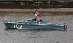 """We shall fight on the seas and oceans...."" (crusader752) Tags: london thames boat ship vessel mtb 102 riverthames dunkirk mtb102 motortorpedoboat redduster dunkirkspirit thequeens90thbirthday dunkirklittleshipsflotilla"