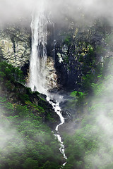 Somewhere in Norway (Andrea Loria) Tags: wild mist cold nature water fog forest landscape waterfall cascata
