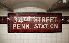 34th Street Penn. Station (meg williams2009) Tags: subway subwaystation nycsubway mosai newyorksubway newyorkmetro stationsign subwaymosaic stationsigninmosaic