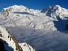 Monte Rosa, Lyskamm and Grenzgletscher (lvalgaerts) Tags: switzerland matterhorn cervino gornergrat gorner glacier gletscher clouds snow spring monte rosa dufour zermatt lyskamm grenzgletscher blanket schweiz alps mountains landscape