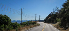 Mulholland Drive (Bug In Box) Tags: road street mountains turn landscape losangeles day atmosphere hills powerlines socal valley vista southerncalifornia hillside sanfernando asphalt bushes canong7x