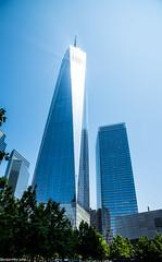One World Trade Center! (dazzbo1) Tags: sky sun rays beam reflection newyork usa america manhatten colour bright glass landscape cityscape ngc